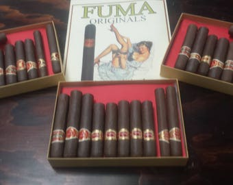 Box with 10 assorted Cigar pipes