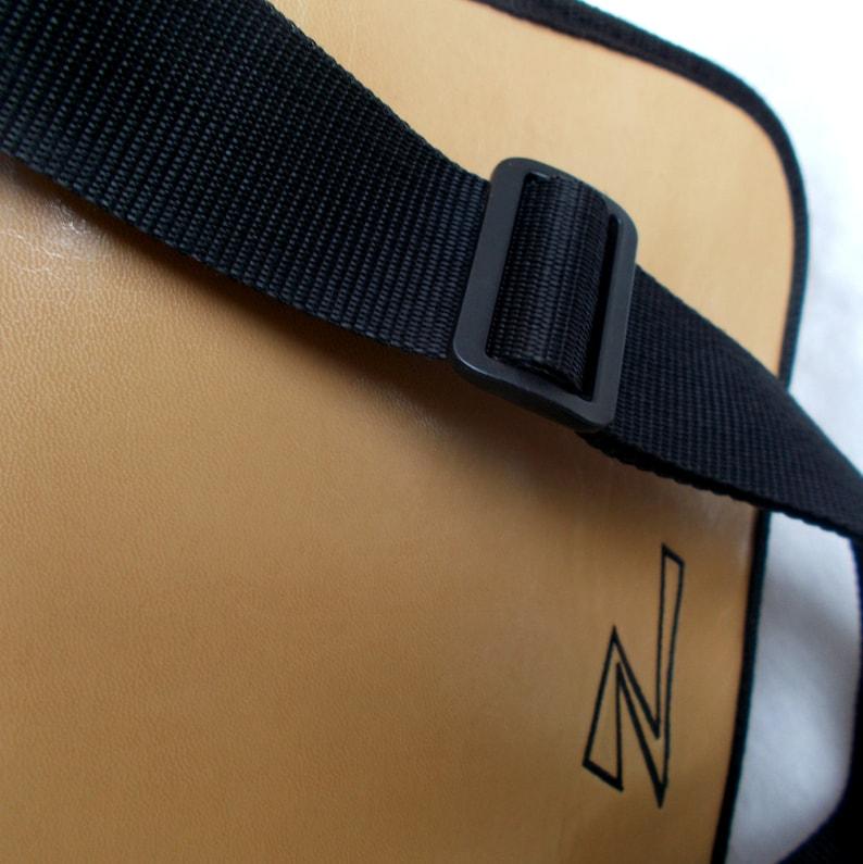 Brown leatherette vintage crossbody bag brown black X-ZESS vintage shoulder bag 80s Crossbody bag faux leather Satchel messenger bag T25