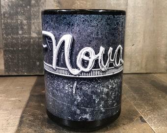 15oz Coffee Mug 15oz Chevy Nova rusty junkyard photography  Cozy Classic Car Cup