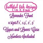 Lavender Monogram Set- 4 sizes - Machine Embroidery Font Alphabet Letters - Script Font - Girl Font - Wedding Font - Instant Download design