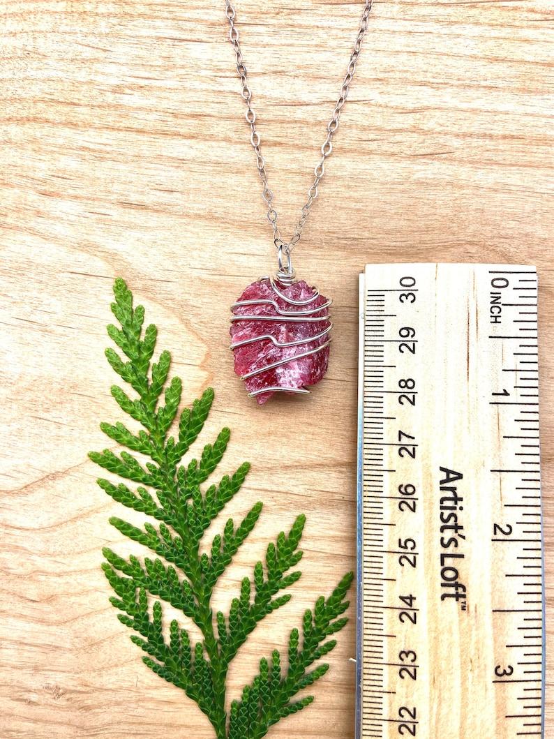 Rhodonite Amulet Rhodonite Rhodonite Jewelry Rhodonite Crystal Rhodonite Necklace Rhodonite Pendant Gemmy Rhodonite Rhodonite Charm