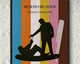 Reservoir Dogs Minimalist Movie Poster Print, Pulp Fiction, Print Art Poster, Home Decor