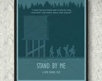 Stand by Me Movie Poster Print, Home Decor, Print Art Poster