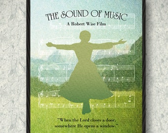 The Sound of Music Movie Poster Print, Home Decor, Print Art Poster, Gift
