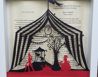 The Night Circus inspired framed papercutting