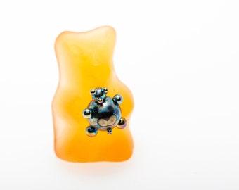 Teddy Titanium G23 14G Labret Stud Cartilage Piercing Conch Flat Back Barbell Tragus stud For Sensitive Skin Bio compatible Handwork