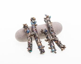 Aliens H-Shape. Hypoallergenic Pure Titanium Stud Earrings TIG ART Welding Made in Finland 2019