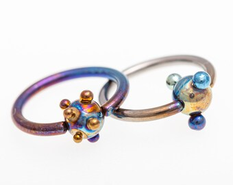 14G Ball Closure Ring Titanium Captive Bead Ring Daith Piercing Nose Septum Hoops Ear Lip Rings Piercing 1,6X12X5mm