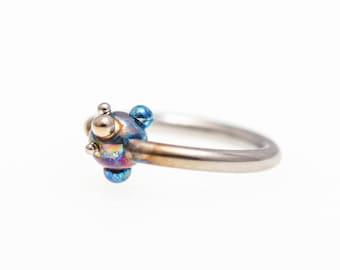 16G Ball Closure Ring Titanium Captive Bead Ring Daith Piercing Nose Septum Hoops Ear Lip Rings Piercing 1,2X8X3mm