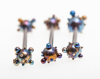 Titanium Straight Barbell 16G, Titanium Nipple Bars, Tongue Barbells, Body Jewelry Piercings, Hypoallergenic, Made in Finland