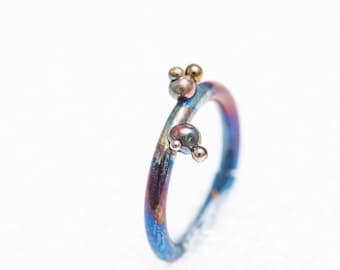 Titanium Segment Septum Clicker Ring, 14G, 1.6x10 mm. Ear Cartilage, Tragus, Lip Piercing, Nipple, Made In Finland, Unusual Body Jewelry