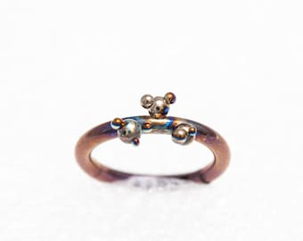 Titanium Segment Septum Clicker Ring, 14G, 1.6x10 mm. Ear Cartilage, Tragus, Lip Piercing, Nipple, Unusual Body Jewelry, Made In Finland,