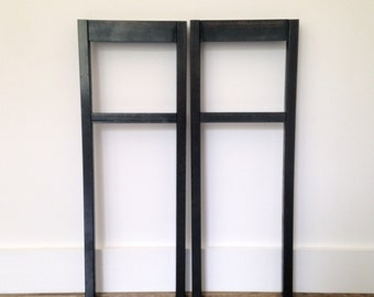Steel Console Two Shelf Table Legs   Steel Table Legs   Multiple Widths