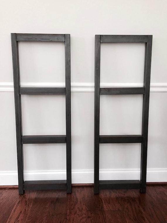 Steel Frame For Bookshelf Media Unit Multiple Heights Custom Sizes Available