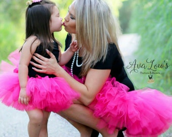 404ec5633b Mommy and Me Tutu Set, matching tutus, mom and me tutus, mom daughter tutus,  mom and me outfit, mom and me skirts, tulle skirts, pictures