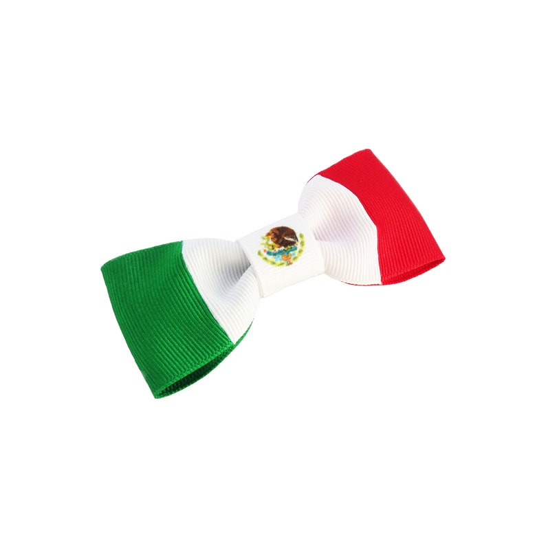 c66bef2e62edb Cute gifts for her under 10 - Gift Under 10 Dollars - Mexico Hair  Accessories - Cinco De Mayo - Mexico - Flag Hair Bow - Mexican Flag -