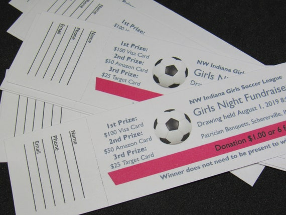 partys 100 Custom Printed Numbered Event Tickets weddings church fundraisers