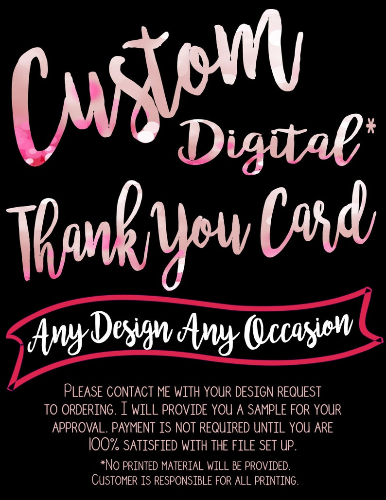 Made to Order Thank You {Digital File Only}
