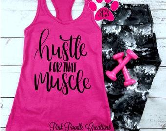 ba7bea32e Hustle Muscle, Hustle Tank, Hustle Tank Top, Workout Tank Top, Exercise Tank,  Gym Tank, Womens Workout Tank, Womens Tank Top, Muscle Tank