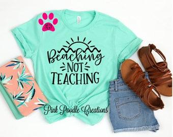 d147fab91 Teacher Shirt, Teacher Beach, Beach Shirt, Teacher Gift, Teacher Tshirt,  Summer Tshirt, Soft Tshirt, End of Year Gift, Teacher Summer, Teach