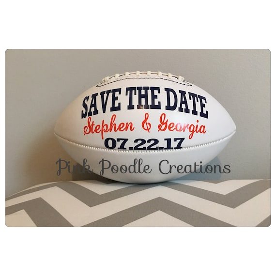 Save the Date football custom football save the date  511f157ee