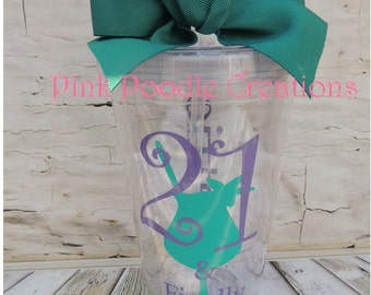 21st Birthday, 21st Bday Gift, 21st Birthday Cup, Birthday Tumbler, Finally 21, Finally Legal, Drinking Cup, Personalized Tumbler, 21st