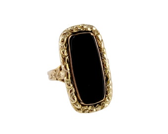 Royal Obsidian Victorian Onyx Ring