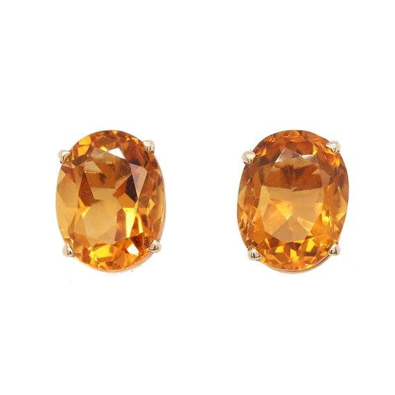 Citrine Stud Earrings / November Birth Stone