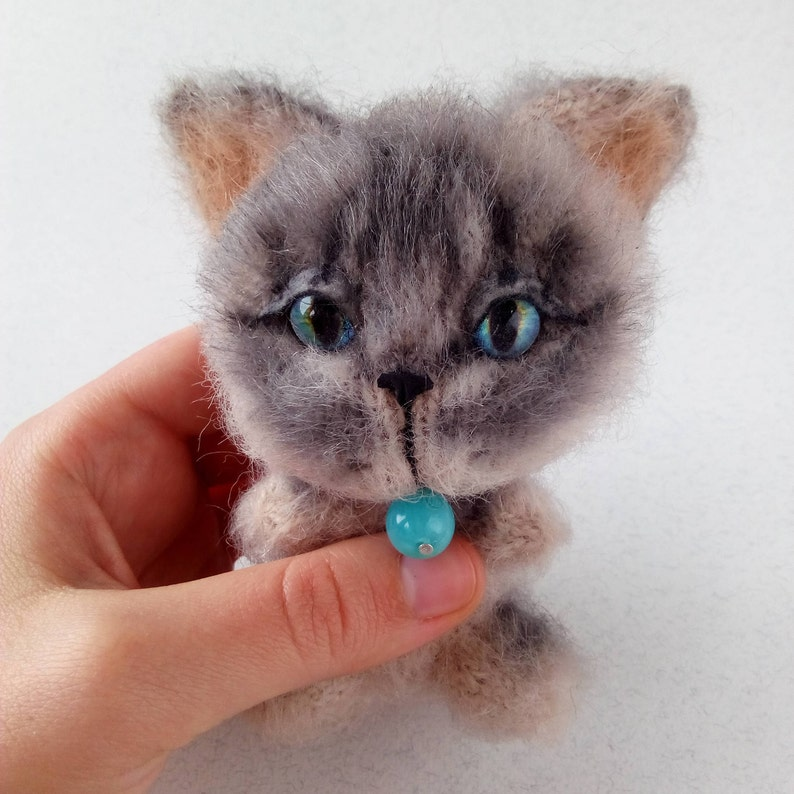 Toy Thai Cat Cat Lover Gift Stuffed Cat Knitted Cat Toys Mothers Day Gift Kawaii Lilac Point Siamese Point Cat Cat Plushie