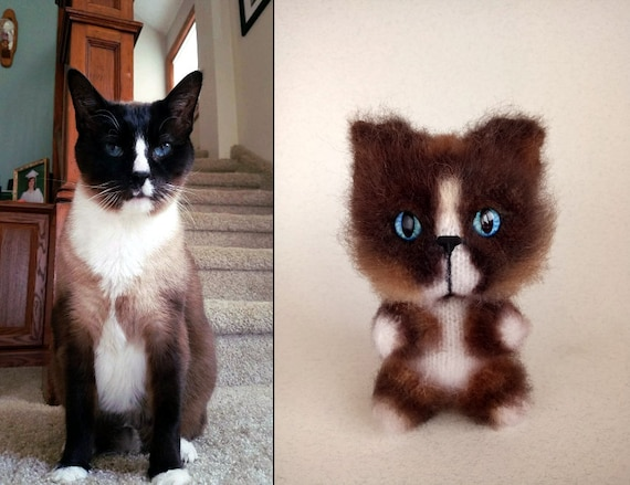 Custom Plushie Pet Portrait Cat Birthday Gifts