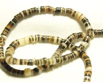 Olive Shell Heishi Beads 4-6mm19inch strand