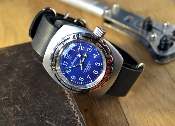 Men's Vintage Watch | Vostok Amphibia Watch | Sovi