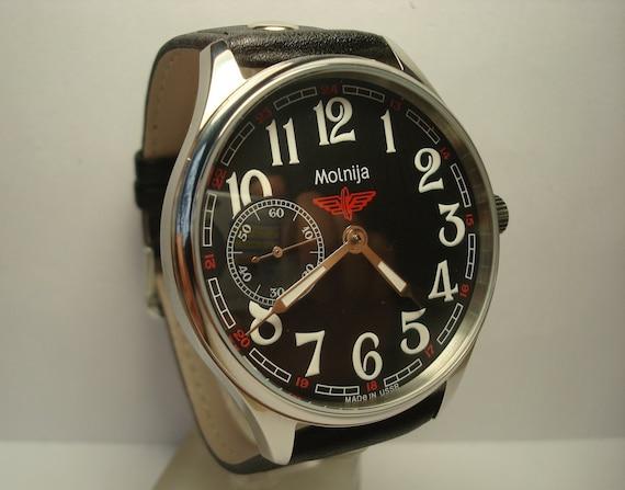 Men's Vintage Watch   Molnija Watch   Soviet Watch