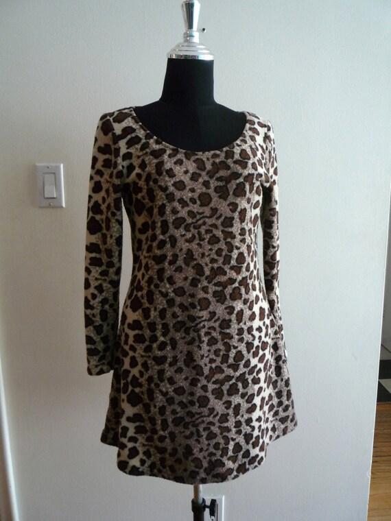 Stretch Terry Animal Print Dress