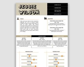 Vorlage Lebenslauf Cv Vorlage Design Für Microsoft Word Und Etsy