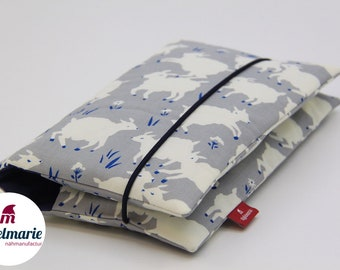 Diaper bag for babies made of 100% cotton   For boys and girls: With sheep   Zipfelmarie