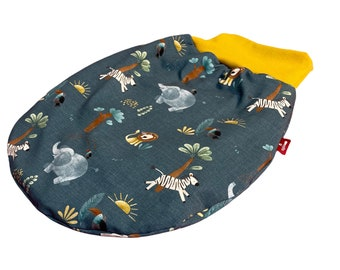 Romper & sleeping bag for babies made of jersey | For boys and girls: With animals from the zoo | Zipfelmarie