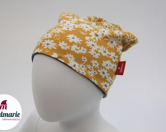 Children' & Baby Turn Beanie / Transitional Beanie from Jersey | 100% cotton | For boys and girls: | with butterflies Zipfelmarie