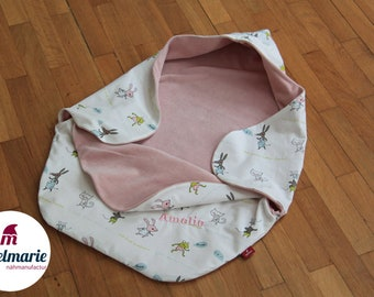 Noble impact & puck blanket for babies made of 100% cotton   For Boys and Girls: With Animals   Zipfelmarie