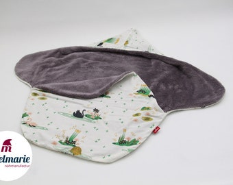 Noble impact & puck blanket for babies made of 100% cotton | For boys and girls: | with swans Zipfelmarie