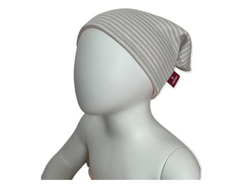 Children' & Babywendebeanie / Transitional Beanie from Jersey | 100% cotton | For boys and girls: with stripes | Zipfelmarie