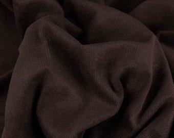 Corduroy | Fine cord fabric made of 100% cotton | dark brown | Zipfelmarie
