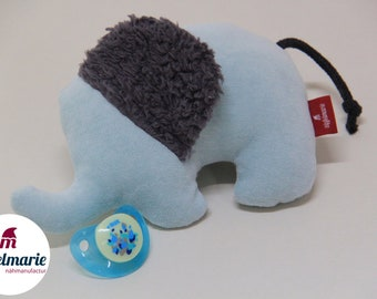 """Cuddly elephant """"Helga"""" for babies made of 100% cotton 
