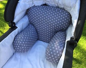 Seat cushion sit for strollers | Stars | Zipfelmarie