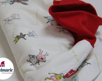 Romper & Sleeping Bag for Babies made of 100% Cotton   For Boys and Girls: With Animals   Zipfelmarie