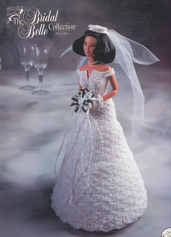 Miss July Bridal Belle Annie/'s Crochet Pattern//Instruction  for Barbie Doll