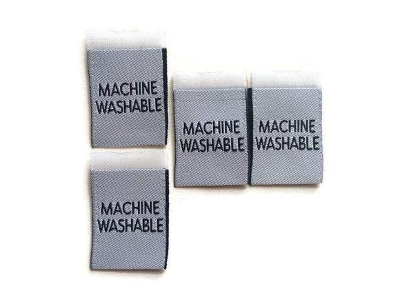 machine washable woven clothing  Garment label