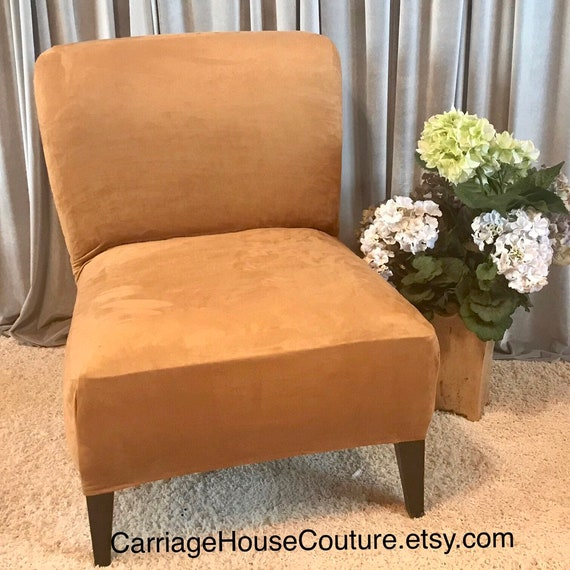 Wondrous Slipcover Gold Suede Stretch Chair Cover For Armless Chair Slipper Chair Armless Accent Chair Parsons Chair Side Chair Gray Beige Alphanode Cool Chair Designs And Ideas Alphanodeonline