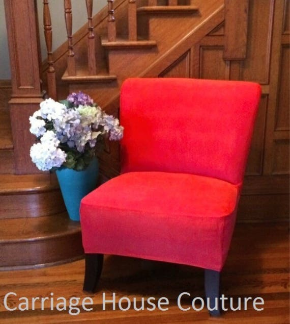 Terrific Slipcover Tangerine Suede Chair Cover For Armless Chair Slipper Chair Armless Accent Chair Parsons Chair Side Chair Gray Marigold Beige Evergreenethics Interior Chair Design Evergreenethicsorg