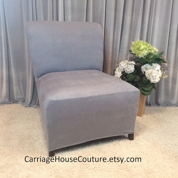 Terrific Slipcover Light Gray Suede Chair Cover For Armless Chair Slipper Chair Armless Accent Chair Parsons Side Chair Tangerine Marigold Beige Gmtry Best Dining Table And Chair Ideas Images Gmtryco